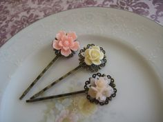 The Perfect Set Vintage Inspired Bobby Pins  Pink by kileyss, $12.00