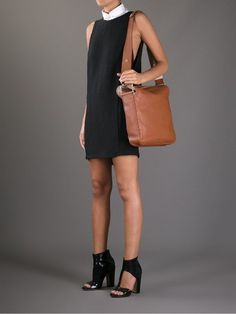 New $1270 Chloe Brown Leather Vanessa Large Crossbody Shoulder Handbag #Chlo #ShoulderBag