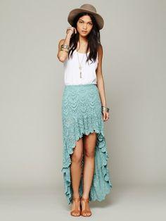 Free People Spanish Saloon Skirt