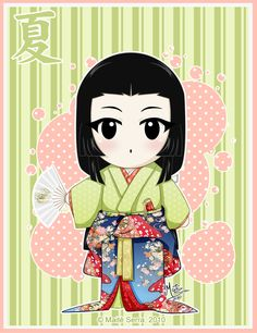 Third in my seasons/ japanese historical eras series. The colors were so haaard This girl from the Sengoku period (middle XV to early XVII centuries) we. Japanese Culture, Japanese Art, Sengoku Period, Illustrations Posters, Chibi, Oriental, Artsy, Fan Art, Deviantart