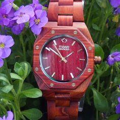 dřevěné hodinky Nelouneck od TimeWood