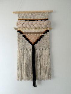 Wall Hanging / Woven Textiles Weaving / Wall Art by ByBellaDesigns Weaving Textiles, Weaving Art, Tapestry Weaving, Loom Weaving, Wall Tapestry, Hand Weaving, Tapestry Crochet, Hanging Tapestry, Weaving Wall Hanging