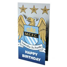 Manchester City F. Soccer Cards, Soccer Gifts, Ipod, Birthday Cards, Happy Birthday, Soccer Birthday, Manchester City, Canada, Party Ideas