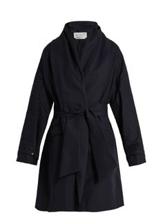 Gabriela Hearst Audley draped cotton cocoon coat
