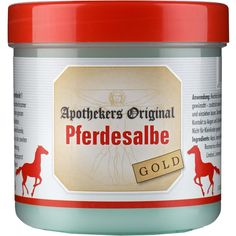 PFERDESALBE Apothekers Original Gold:   Packungsinhalt: 300 ml Gel PZN: 02889710 Hersteller: Equimedis Dr. Jacoby GmbH & Co. KG Preis:…