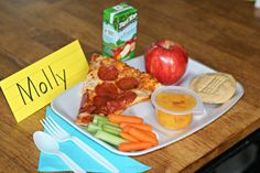 """Back to school"" themed dinner and FREE printable!"