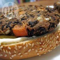 Rezeptbild: Burger aus schwarzen Bohnen