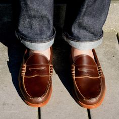 Beefroll Penny Loafers Brown Chromexcel