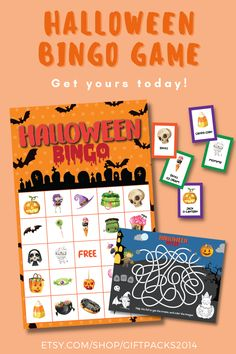 Halloween Bingo Game Cards for Kids and Family. Perfect for class Halloween parties or any other Halloween event you may be hosting or making activities for. Our instant download printable contain 30 cards, calling and markers and FREE Maze. Halloween Art Projects, Halloween Bingo, Halloween Class Party, Halloween Science, Halloween Crafts For Kids, Printable Bingo Games, Printable Activities For Kids, Party Printables, Valentine Bingo