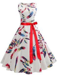 3ec0ae6e72f Sisjuly vintage women dress spring white bowknot feather floral print party  style elegant famale vintage 2018 new dresses