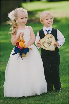 Here Comes The Bride wooden heart sign