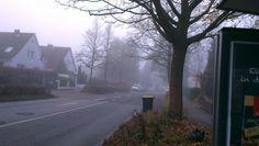 Foggy street ,framredder,hamburg