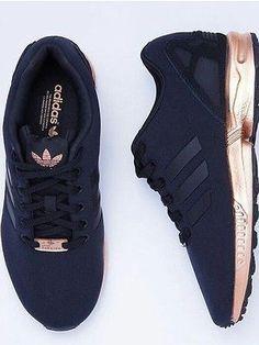 Adidas Originals ZX Flux Black Copper Rose Gold Torsion Rare Size 6