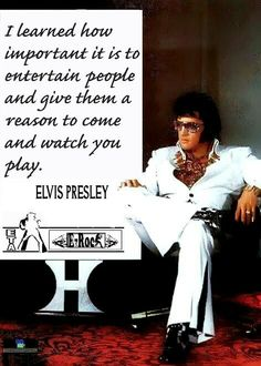 ELVIS QUOTE OF THE DAY...