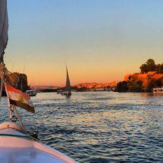 Sunset felucca tour, Aswan, Egypt, Nile River