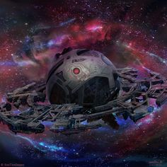 Burning Suns - Cyborg Homeworld by Ellixus Spaceship Art, Spaceship Concept, Futuristic Art, Futuristic Architecture, Sci Fi Wallpaper, Sience Fiction, Cyberpunk City, Alien Concept Art, Fantasy Art Landscapes