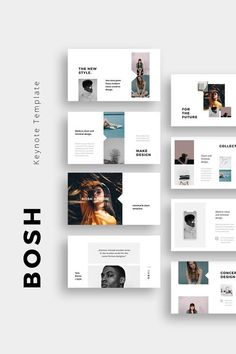 BOSH - Clean and Minimal Keynote Presentation Template. Clean, modern and simple Keynote Template. This clean and creative layout gives you many possibilities of creativity. Portfolio Design Layouts, Layout Design, Design De Configuration, Ppt Design, Design Poster, Web Layout, Flyer Design, Architecture Portfolio Layout, Ppt Slide Design