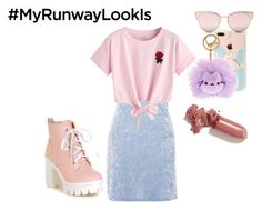 """My Runway Look"" by fandom-outfits-b ❤ liked on Polyvore featuring Nobody's Child, WithChic, Pusheen, LMNT and LAQA & Co."