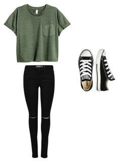 """""""School"""" by abbympigeon ❤ liked on Polyvore featuring Converse"""