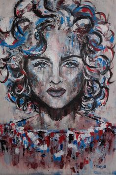 Young Madonna 80s painting