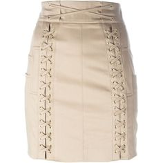 Balmain lace fastening detail mini skirt ($1,625) ❤ liked on Polyvore featuring skirts, mini skirts, balmain, short miniskirt, pink mini skirt, high-waist skirt, high waisted mini skirt and balmain skirt