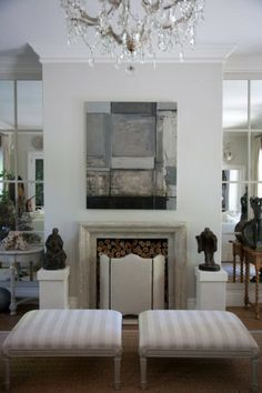 The Enchanted Home: Designer spotlight: John Jacob Simple and effective fireplace