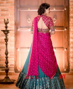 Lehenga Saree Design, Half Saree Lehenga, Lehnga Dress, Saree Look, Lehenga Designs, Lehanga Saree, Bridal Lehenga, Indian Gowns Dresses, Indian Fashion Dresses