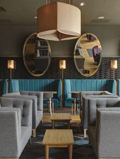 Monboddo Bar, Edinburgh - Double Tree by Hilton-COLORS of my bedroom!, Purple, grey and teal!!!