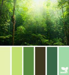 Forest Wedding Palette Living Rooms Vertegreen Colour