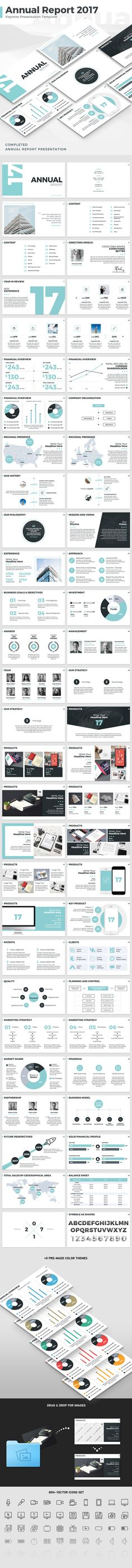 Annual Report 2017 Keynote Template — Keynote KEY #overview #startup • Download ➝ https://graphicriver.net/item/annual-report-2017-keynote-template/19075912?ref=pxcr