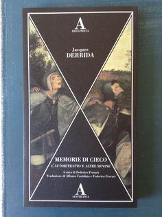 """""""Cosa accade quando di scrive senza vedere? Una mano cieca si avventura solitaria o dissociata in uno spazio approssimativamente delimitato, tasta, palpa, accarezza tanto quanto inscrive, fa affidamento sulla memoria dei segni e supplisce alla vista, come se un occhio senza palpebre si aprisse sulla punta delle dita [...]"""". -- Jacques Derrida, """"Memorie di cieco"""" (1990), trad. di Alfonso Cariolato e Federico Ferrari, (SE Studio Editoriale, 2003, 2015)"""