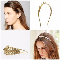 the beauty department gold leaf headbands