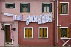 Laundry in Venice: Barbara Piancastelli -- I remember seeing this kind of thing and loving it on honeymoon