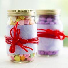 mason jar + candy bow