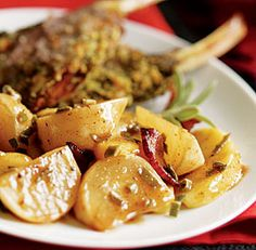 CIDER-GLAZED TURNIPS AND APPLES WITH SAGE AND BACON http://www ...