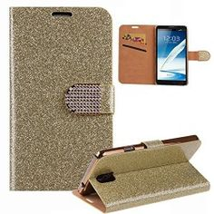 Case For Galaxy Note 4,Cover For Galaxy Note 4,Flip Case For Galaxy Note 4,Wallet Case For Samsung Galaxy Note 4,UZZO™Deluxe PU Leather Luxury Bling Gliter Sparkly Flip Pouch Case Book Fold Crystal Rhinestone Magnetic Buckle Design Folio Wallet Case Cover With Foldable Stand, Pockets for ID, Credit Cards for Samsung Galaxy Note 4 With 1Free Keyirng (Gold) Unlocked Smartphones, Smartphones For Sale, Galaxy Note 4, Pouch, Wallet, Credit Cards, Crystal Rhinestone, Pu Leather, Samsung Galaxy