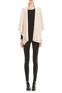 Look by M Womens Draped Basic Shawl Vest Beige ** Click image for more details.