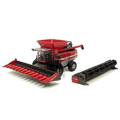 1/64th Massey Ferguson 9895 Combine w/ Fat Tires and Both heads *** This is an Amazon Affiliate link. Click image to review more details.