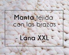Manta de lana XXL tejida con los brazos | Manualidades