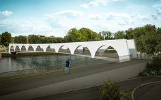 progetto ponte ciclopedonale - parma italia arch. matteo calvi arch. guido ferrari ing. simonetta merzi