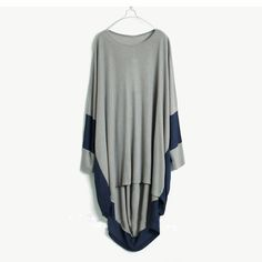 contrast coloured gray shirt Tshirt knitted cotton top by FM908, $45.00