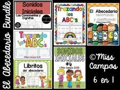 Recursos para trabajar el alfabeto (el abecedario) para niños de preescolar y kindergarten.   Mas de 178 paginas para el desarrollo del conocimiento fonetico.