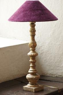 Lampfot trä och guld