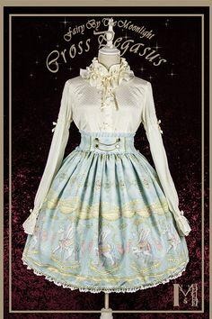Fairy by the Moonlight +Cross Pegasus+ Lolita Skirt