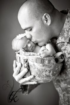 Daddy's Little Princess - Boise Idaho Newborn Photographer Must have if he goes into the service