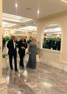The Duke of Edinburgh, The Prince of Wales and The Duchess of Cornwall before the #CHOGM2015 dinner.