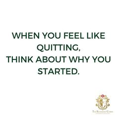 When you feel like quitting, think about why you started. .  #motivation #fitness #gym #fit #love #workout #fitnessmotivation #training #inspiration #lifestyle #training #health #inspiration #motivationalquote #inspirationalquote #positivevibes #healthy #train #fitnessjourney #motivationalmonday #exercise #freedom #happy #weightloss #personaltrainer  #Regram via @richemontclinic Monday Motivation, Fitness Motivation, Motivational Quotes, Inspirational Quotes, Healthy Sandwiches, Lunch Time, Personal Trainer, Positive Vibes, Instagram Feed
