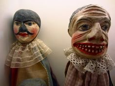Wooden Puppets - from inspiration of the face paint I decided to look at puppetry