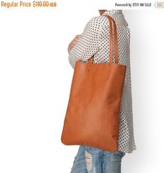 Brown Leather tote soft leather purse women bag by LeahLerner