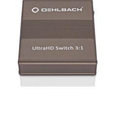 Oehlbach UltraHD switch 3:1 4K2K HS HDMI  Description: Oehlbach Ultra-HD switch 3:1 4K2K HS HDMI De Oehlbach Ultra-HD switch 3:1 4K2K HS HDMI is ontzettend praktisch in gebruik het helpt jou namelijk om het tijdrovende klusje van het omsteken van HDMI-kabels tot het verleden te bannen! Dit compacte apparaatje accepteert drie HDMI-kabels tot een Ultra-HD resolutie van 2160p en geeft het signaal door naar het aangesloten doelapparaat zonder kwaliteitsverlies. Naast het Ultra-HD signaal worden…